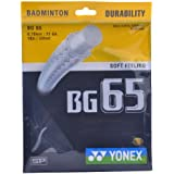 Yonex BG 65 Badminton Strings, 0.70mm (Black)