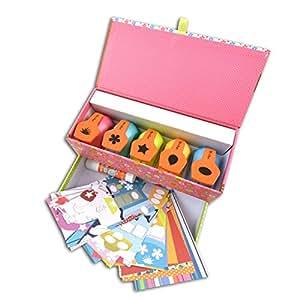 Téo & Zina KTZ03 Mon coffret à perfos Chouette Kit d'outillage Métal Multicolore 21 x 10,5 x 9,5 cm