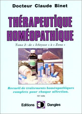 Thrapeutique homopathique T.2