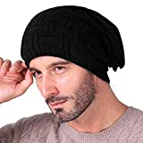 Knotyy Beanie Caps, Woolen Caps, Knitted Slouchy Caps, Skull Cap (Black) Unisex