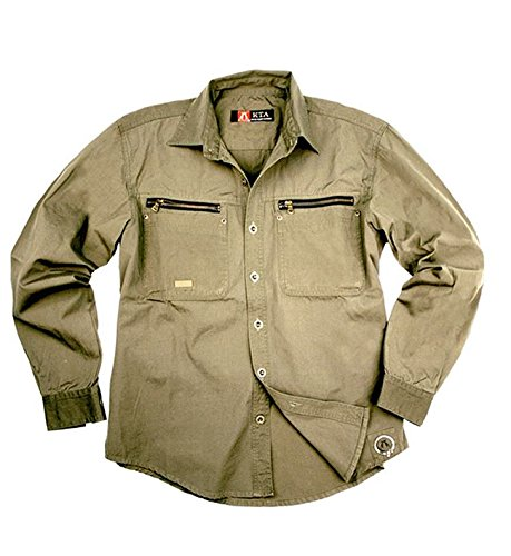 Herren Outdoor Arbeits- Hemd aus robuster Baumwolle von Kakadu Australia Grau
