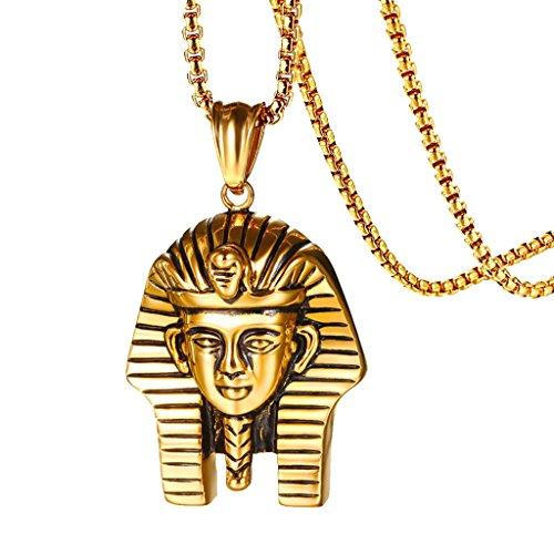 Descripción:       - Religión egipcio Faraón colgante collar con cadena de joyería de moda para mujeres hombres     - Hip Hop Rock Style, gran regalo para su amante, familias y amigos o usted mismo, etc.     - Conveniente para diario, fiesta,...