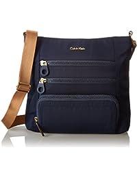 Calvin Klein Nylon Crossbody - Bolso cruzado para mujer