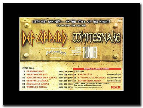 Def lepperd–Whitesnake Tour Termine Juni 2008... extra.... Magazin Promo auf A schwarz Mount