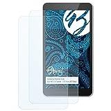 Bruni Película Protectora para HP 7 II Tablet - 1311nn (J5T70AA) Protector Película - 2 x Claro Lámina Protectora de Pantalla