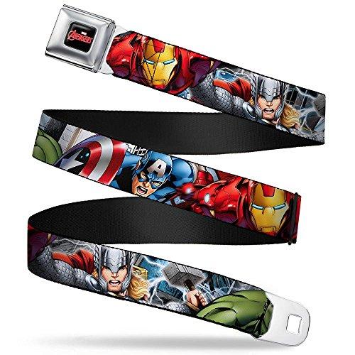 BD Marvel The Avengers Sicherheitsgurt Gürtel–Charaktere–Captain America, Ironman, Thor, - Avenger Gürtelschnalle