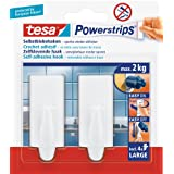 tesa Powerstrips Hooks Large TREND White