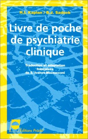 Livre de poche de psychiatrie clinique par H-I Kaplan