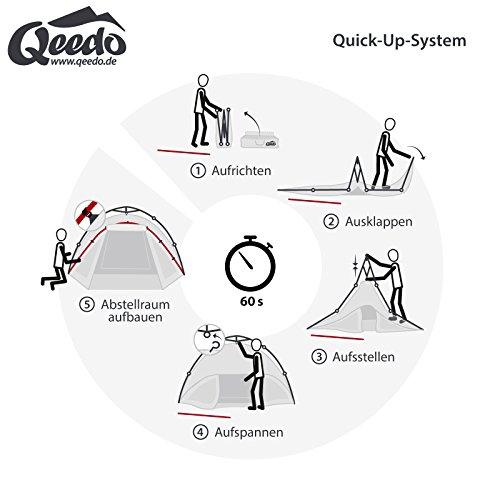 Qeedo - Quick Oak 3 Personen Sekundenzelt mit Quick-Up-System - grün -