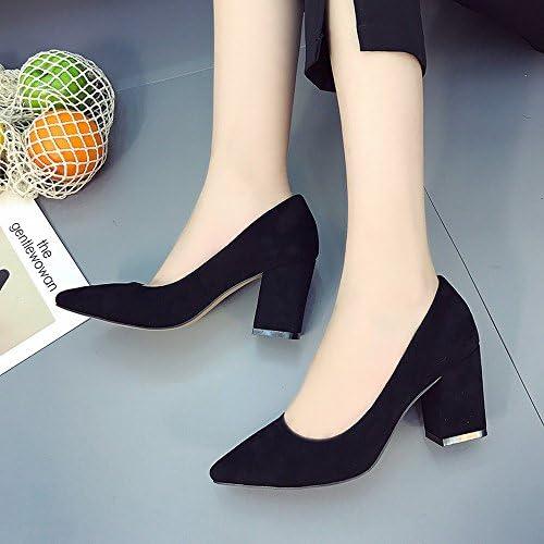 DIDIDD Use Zapatos de Tacón Alto Zapatos de Moda Bromista Zapatos de Boca Poco Profunda, Segundo,37