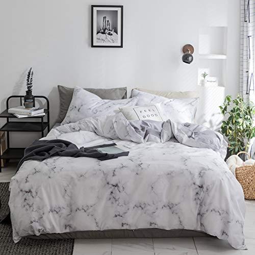 2-Teiliges Twin Bettbezug Set, Grau 100% natürliche Baumwolle Stil Bettbezug, Kontrast 2Ton Reversible Design mit Reißverschluss Modern Full/Queen Stil 13 -