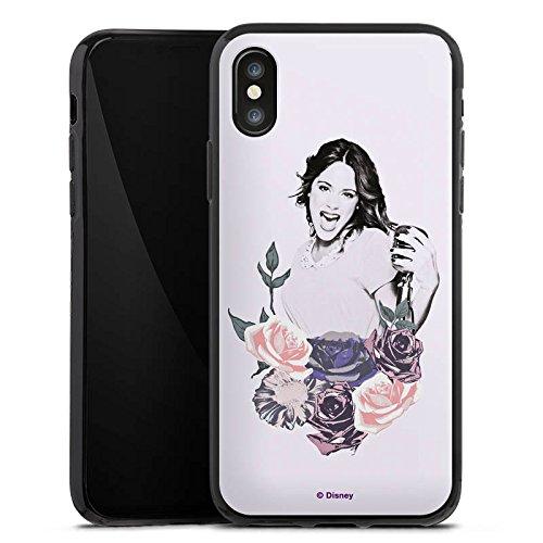 Apple iPhone X Silikon Hülle Case Schutzhülle Disney Violetta Geschenk Merchandise Silikon Case schwarz