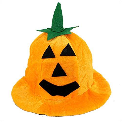 �rbis Hut Cos Halloween Kürbis Hut Kürbis Motive Lint Top Orange Hüte Orange 18cm Hexenhut für Damen Horror Party Hexe Hut Dreieck Augen Kürbis Hut ()
