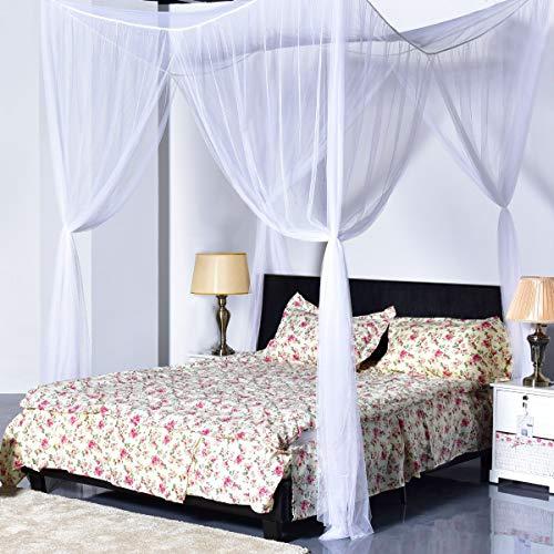 amaes Moskitonetz für Reise und zu Hause | 210 * 190 * 240 cm Moskitonetz Mückennetz für Einzelbetten & Doppelbett & Hängematte & Kinderbett Schutz des Insektennetzes - 4 offenen Seiten