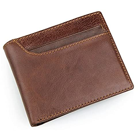 YAAGLE Vintage Genuine Leather Anti-scan Multi-function Coin Pocket Purse Wallet
