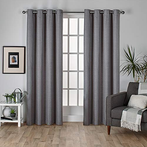 Exclusive Home Thermo-Vorhang aus Rohseide, 1 Paar 54x108 Black Pearl