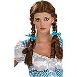 Manzana proibita–Sexy peluca mujer carnaval tirolés Oktoberfest con trenzas Castaño Pelo, color marrón