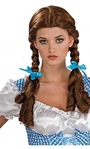 Apfel verboten–Sexy Perücke Damen Kostüm Tiroler Oktoberfest mit Braids Blonde Haar Unica braun