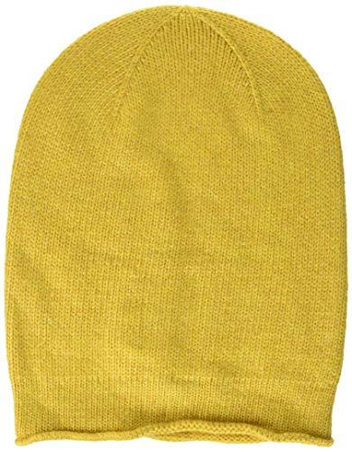 PIECES Damen PCROSE Oversize Cashmere Hood NOOS Strickmütze, Gelb (Nugget Gold), One Size