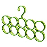House Of Quirk Multi-Functional 10 Slot Acrylic Scarf Hanger and Organizer - Green