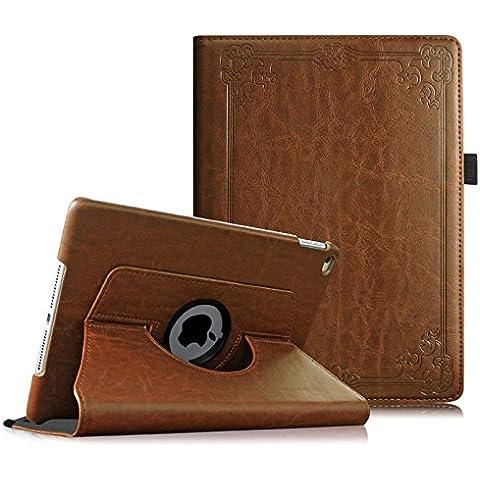 Fintie iPad Air 2 Funda - Giratoria 360 grados Smart Case Funda Carcasa con Función y Auto-Sueño / Estela para Apple iPad Air 2 (iPad 6th Generación 2014 Versión) 9.7 Inch iOS Tableta, Vintage Antique