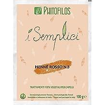 Phitofilos HENNE' ROSSO N.3 I Semplici 100gr Rame intenso 100% Vegetale