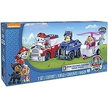 Patrulla Canina - Pack de 3 Vehículos al rescate Marshall + Rubble + Rocky (Bizak 61926619)