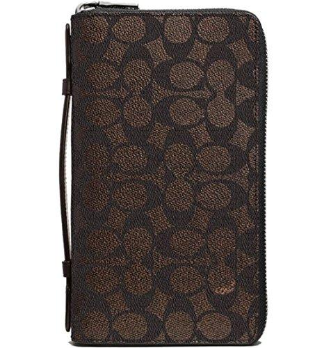 Coach Portemonnaie , Double Zip Travel Organizer, Signature brown, 93430 (Coach Zip)