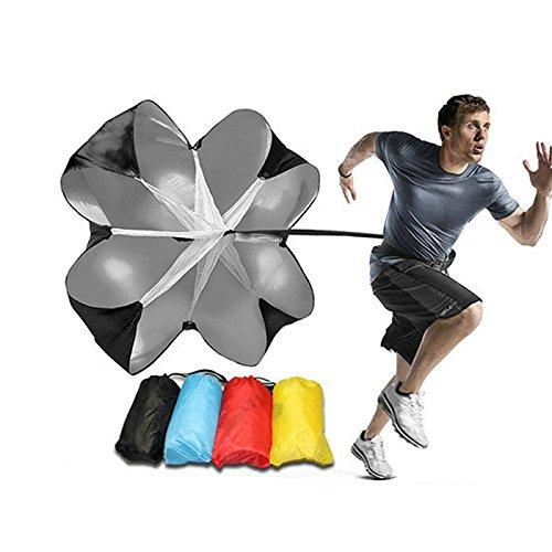 lymty Trainingsschirm Übung Geschwindigkeit und Beweglichkeit Power Chute Fitness Explosive Power Fallschirm Widerstandsausrüstung mit verstellbarem Gurt zum Boxen, Laufen, Fußball, Fußballbohren