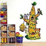 Suuyar Kinderzimmer Cartoon Kaktus Wandaufkleber Eule Dekoration Vinyl Abnehmbare Baum Cubs Löwe Kinder Schlafzimmer Spiel Tapete Dekor Hause