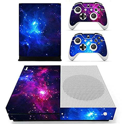 Morbuy Xbox One S Skin Console Vinyle Autocollant Decal Sticker and 2 Manette Skins (Double Starry)