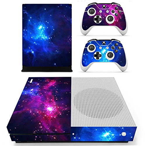 Morbuy Xbox One S Skin Vinly Pegatinas Protective Consola Sticker Decal + 2 Controlador Skins Set (Double Starry)
