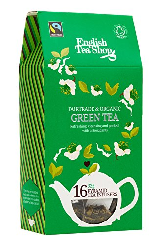 English Tea Shop Green Tea Cathedral Pyramid, 16 ct