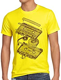 style3 DJ Tape Herren T-Shirt kassette 3D turntable retro