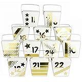Papierdrachen Calendario dell'Avvento Fai-da-Te - Set di 24 scatole Tipo Noodle - Oro - da assemblare e Personalizzare
