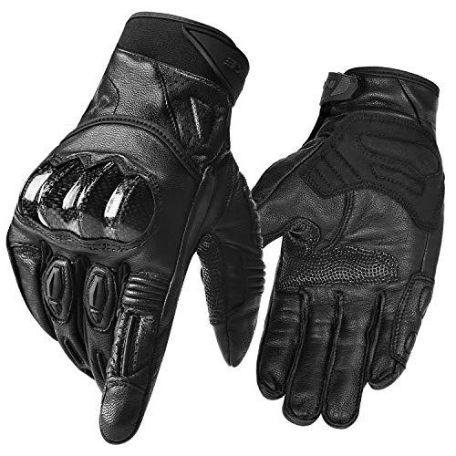 40e9e584a6fec9 INBIKE Motorradhandschuhe Herren Motorrad handschuhe Touchscreen Warm  Winddicht Atmungsaktivität Knöchelschutz Aufprallschutz Wasserdicht für  Motorrad ...