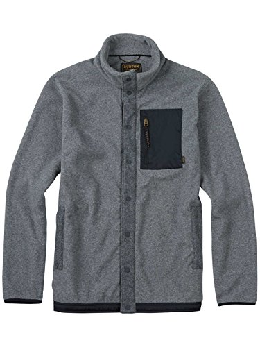 Burton Herren Hearth Snap-Up Fleece Fleecepullover dark ash heather