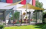 WindFix Windschutz Glasabtrennung Windabweiser Terrasse Glas Gartenzaun Garten Windfang Sichtschutz Zaun Begrenzung (102,9 cm)