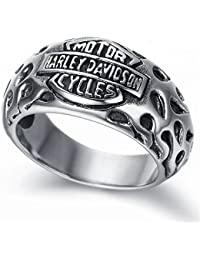 Mens Stainless Steel Ring, Vintage, Biker KR1960