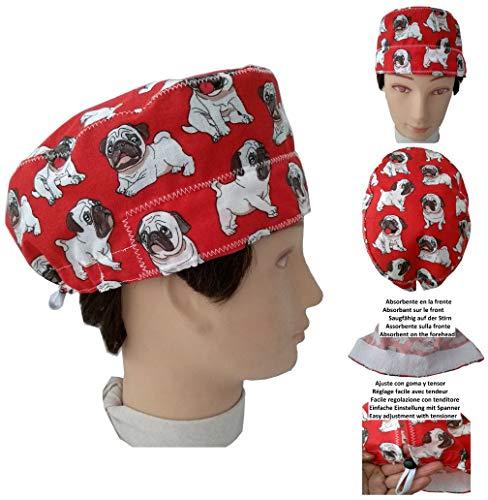 OP-Kappen. Carlinos Hunde, Chirurg, Zahnarzt, Tierarzt, Handtuch auf der Stirn, verstellbarer Spanner nach Ihren Wünschen