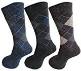 #7: RC. ROYAL CLASS Men's Calf Length Woolen Thick Terry Argyle Socks (Pack of 3 Pairs winter wear socks)