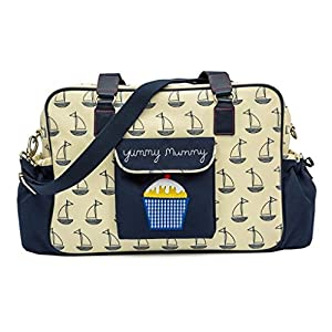 Pink Lining Yummy Mummy Baby Changing Nappy Bag - Navy Boats from Pink Lining