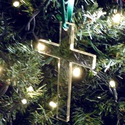 Kreuz Weihnachtsbaum Dekorationen Paket 10-8cm ca. geliefert jede Multifunktionsleiste -