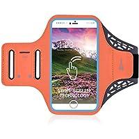 iPhone 8/8PLUS Bewegung ArmBand, Fingerabdruck Touch unterstützt Gym Running Workout/Exercise Arm Band Schutzhülle für iPhone 6/6S/7/7Plus/8/8pluswith Schlüssel/Karte Halter