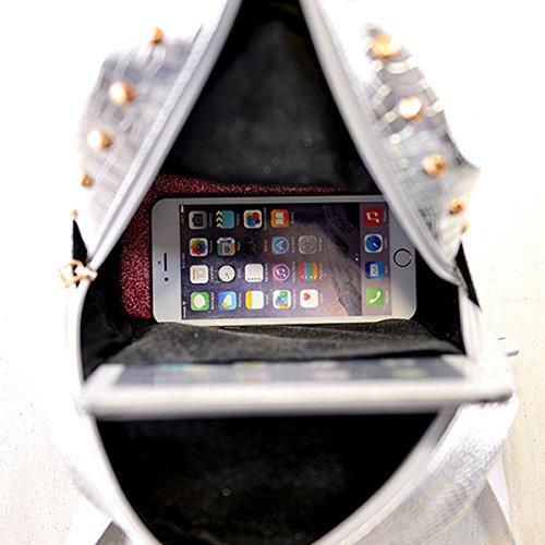 LA HAUTE , Damen Rucksackhandtasche, silber (Silber) - LHTE-406 Goldfarben
