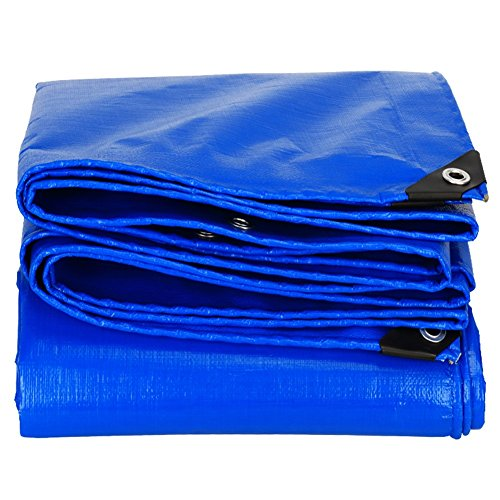 PENGFEI Blue Tarred Protection Canvas Raincoat Rain Cloth Picnic Car Solar Plant Animal Cold Resistance Dustproof Truck Shade Shed Cloth, Thermal Insulation,