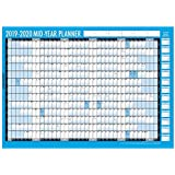 New Style 2019-2020 Mid Year Planner A2 Large Laminated Academic Wall-Planner 59cm x 42cm with Dry Wipe Marker Pen & Sticker Dots
