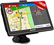 GPS Navi Navigation für Auto LKW PKW 7 Zoll 16GB Lebenslang Kostenloses Kartenupdate Navigationsgerät mit POI Blitzerwarnung