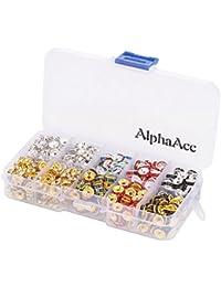 AlphaAcc 200pcs bañado en plata cristal Rondelle Spacer Beads, Assorted Value Pack6-500pcs, 8 mm