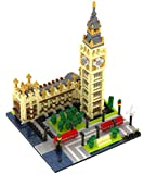 Rikuzo landmark series Building Block Set - Big Ben 1641pcs Nano Micro Blocks DIY Toys